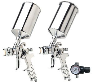 Titan 3pc. Dual Setup HVLP Spray Gun Kit
