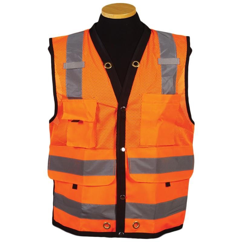 Orange Surveyor Map Vest