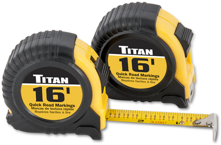 Titan 16ft 2pk Tape Measure