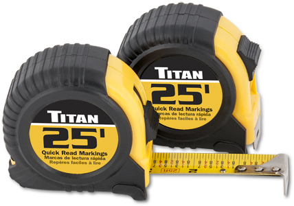 Titan 25ft 2pk Tape Measure