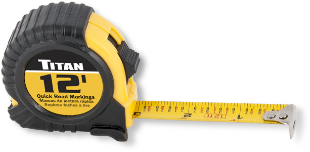 Titan 12ft Tape Measure