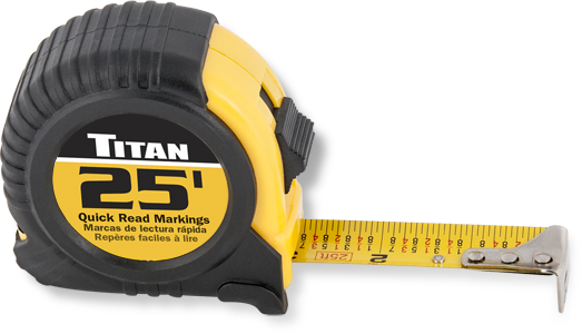 Titan 25ft Tape Measure