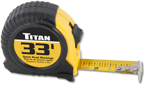 Titan 33ft Tape Measure