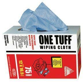 "75 COUNT ONE TUFF™ DURABLE ABSORBENT WIPER CLOTHS 12"" X 16.5"""