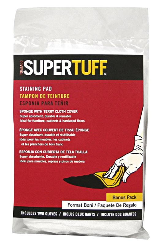 SUPERTUFF™ TERRYCLOTH & SPONGE STAINING PAD WITH GLOVES
