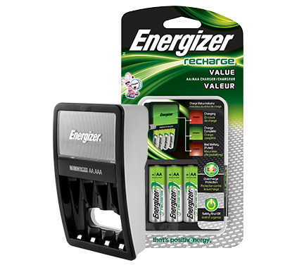 Energizer® Recharge® Value Charger (For AA/AAA Batteries)