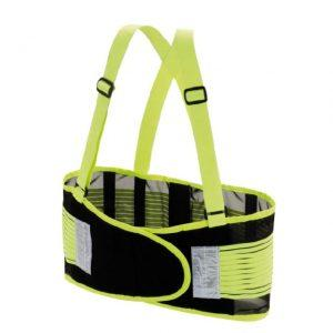 "Valeo 8"" High Visibility Green Back Support Belt Small"