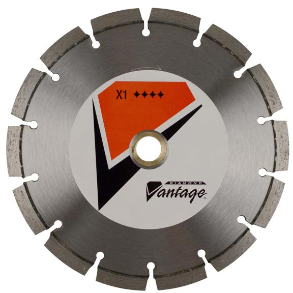 "4"" x .250"" x 7/8""-5/8"" Diamond Vantage Walk Behind Saw Blade: X1 Series"