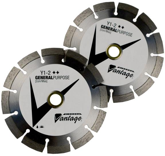 "4"" x .080 x 7/8-5/8 Diamond Vantage Walk Behind Saw Blade- Y1-2 Segmented Series"