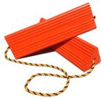 "18"" Urethane Wheel Chocks, Orange"
