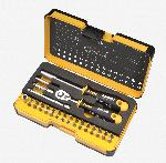 Felo 36 piece Box SL,Hex,PH,PZ,TX,SQ Bits Ratchet, Bitholder