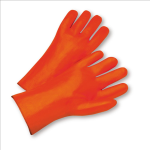 "West Chester 1027OR Safety Orange Smooth PVC 12"" Gauntlet"