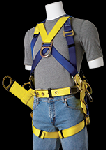 Gemtor 2005 Safety Harness For tower erection & maintenance front D-ring & Pass thru leg straps