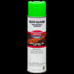Rust-Oleum® Construction Marking Paint, Water Based FLUORESCENT GREEN (15 oz Aerosol)