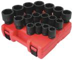 "Sunex 4696 3/4"" Dr SAE Impact Socket Set, 29Pc"