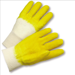 West Chester 3001 Latex Palm Coated Crinkle Finish Knit Wrist Gloves