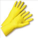 West Chester 3312 Standard Flock Lined Yellow Latex Gloves