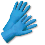 West Chester 33313 Standard Flock Lined Blue Latex Gloves