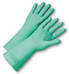 West Chester Standard 15 Mil Green Flock Lined Nitrile Chemical Resistant Gloves