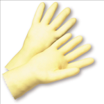 West Chester 3343 Standard Unlined Amber Latex Gloves