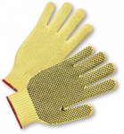 West Chester Large Yellow PVC One Side Dotted 100% Kevlar® Gloves