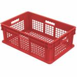"Akro-Mills Straight Wall Container, Mesh Side & Base, 23 3/4""L x 8 1/4""H x 15 3/4""W, Red"