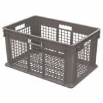 "Akro-Mills Straight Wall Container, Mesh Side & Base, 23 3/4""L x 12 1/4""H x 15 3/4""W, Grey"