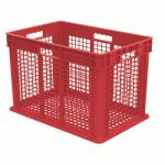 "Akro-Mills Straight Wall Container, Mesh Side & Base, 23 3/4""L x 16 1/8""H x 15 3/4""W, Red"