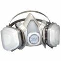 3M Half Facepiece Disposable Respirator Assembly 51P71, Organic Vapor/P95 Respiratory Protection, Small