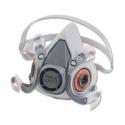 3M 6000 Series Half Facepiece Respirator 6200, Medium