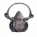 3M 6501 Half Facepiece Reusable Respirator, Small