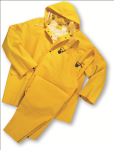 West Chester 4035FR 35 ml PVC over Polyester 3 pcs Rainsuit - Flame Resistant