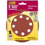 "Ivy Classic 42374 5"" Hook & Loop Disc 8 Hole 220 Grit"