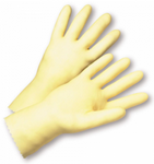 West Chester Industry Grade 16 Mil Unlined Amber Latex Gloves