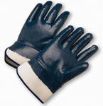 West Chester Black Fully Coated Jersey Lined Smooth Finish Nitrile Gloves