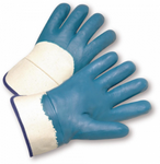 West Chester Heavy Weight Jersey Lined Blue Nitrile Palm Coated Gloves