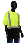 West Chester Medium Lime/Black Bottom Class 2 Color Block Short Sleeve Shirt