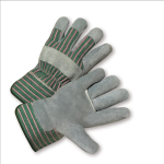 West Chester 500 Standard Split Cowhide Palm Rubberized Cuff Gloves