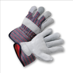 West Chester 550-EAF Select Split Cowhide Palm Red Fleece Lined Gloves