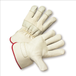 West Chester 5000 Premium Grain Cowhide Palm Rubberized Cuff Gloves