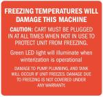 Decal, Freezing Temps Will Damage Machine, 4? x 3.75""