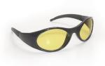 SAS 5181 Stingers Safety Glasses - Black Frame with Yellow Lens - Polybag (12 Pr)