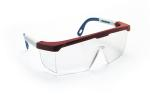 SAS 5277 Hornets Safety Glasses - Red, White, Blue Frame with Clear Lens - Polybag (12 Pr)