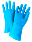 West Chester Posigrip 21 Mil Flock Llined Blue Latex Chemical Resistant Gloves