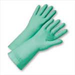"West Chester 52N102 Unlined Green Nitrile 22 mil 18"" Glove"