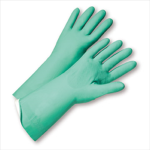 "West Chester 52N103 Flock Lined Green Nitrile 15 mil 13"" Glove"