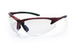 SAS 540-0400 DB2 Safety Glasses - Red Frame with Clear Lens - Polybag (12 Pr)