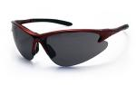 SAS 540-0401 DB2 Safety Glasses - Red Frame with Shade Lens - Polybag (12 Pr)