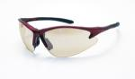 SAS 540-0402 DB2 Safety Glasses - Red Frame with In/Outdoor Mirror Lens - Polybag (12 Pr)
