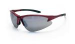 SAS 540-0403 DB2 Safety Glasses - Red Frame with Mirror Lens - Polybag (12 Pr)